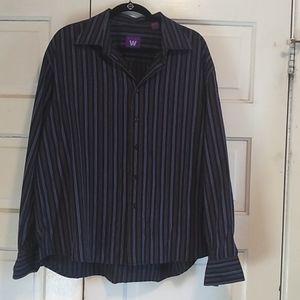 William Rast Black,long sleeves striped shirt
